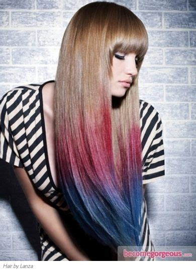 Pinkblue Dip Dyed Hair Color Gallery