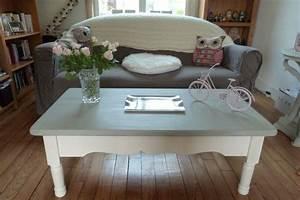 Meuble Repeint En Gris Perle : meuble repeint en gris perle 18 peindre une table basse ~ Dailycaller-alerts.com Idées de Décoration