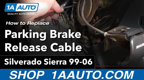 replace parking brake release handle   gmc