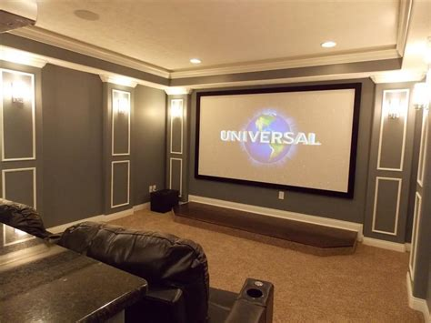 amazing home movie theater rooms with brown nuance