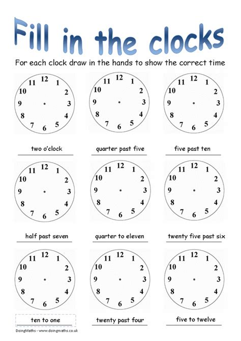 time doingmaths  maths worksheets