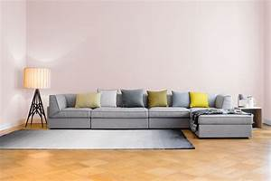 Design Modul Sofa Fila In Hellgrau FILA