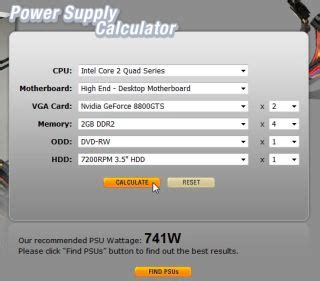 power supply calculator figures out what size psu to buy