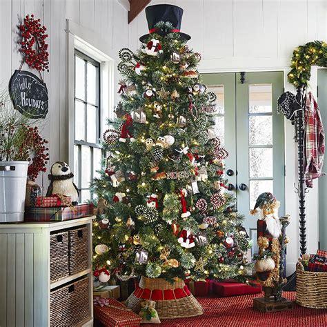 plaid tidings christmas tree  pier  imports