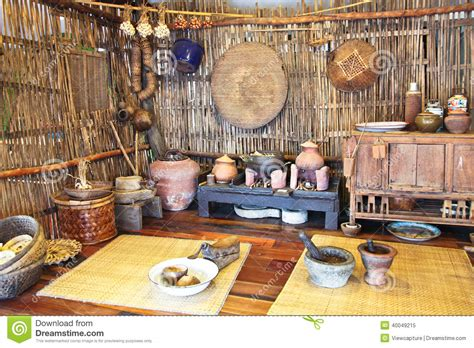 thai kitchen of a mock up of traditional thai kitchen stock image image