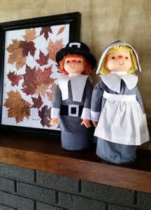 thanksgiving decorations craft these grateful pilgrims from liter bottles
