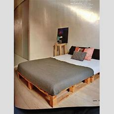 1000+ Ideas About Pallet Platform Bed On Pinterest Bed