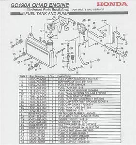 Honda Gc190 Engine Parts
