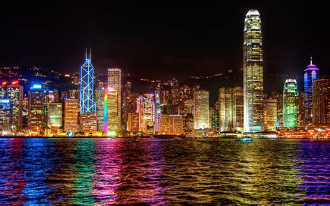 Download Hintergrundbilder 1920x1200 Hong Kong Lichter Der