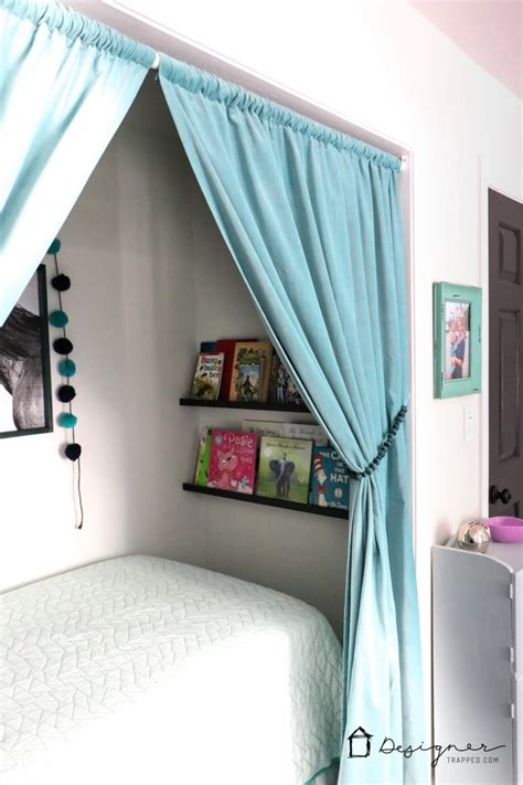 how to turn a closet into a bed nook useful spackling