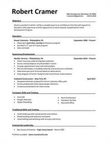 resume exles with coursework free exle resumes