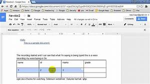 How To Insert A Row In Table In Google Docs