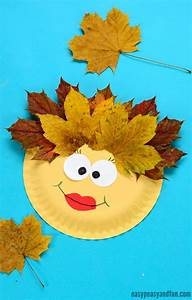 leaf paper plate craft easy peasy and