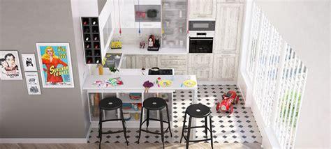 cuisine ouverte petit espace frise mosaique carrelage nawmy com