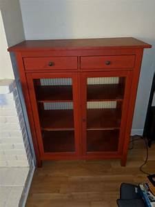 Ikea Hemnes Red Linen Cabinet Discontinued For Sale In Alameda