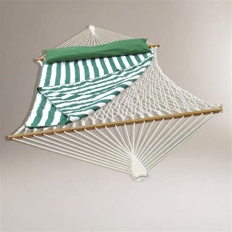 world market hammock cotton rope 2 person hammock with pad and pillow world