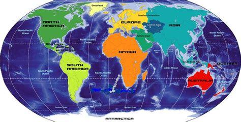 Континенти - характеристики на водната и земната повърхност