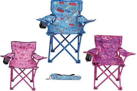 New Kids Childrens Folding Chair Cup Holder Carry Bag
