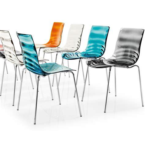 chaise design pas chere l 39 eau transparent chair by calligaris arredaclick