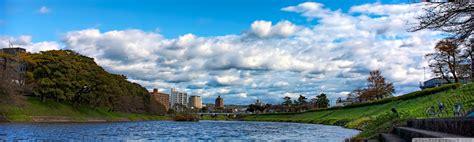 cloud cover   oto river  hd desktop wallpaper