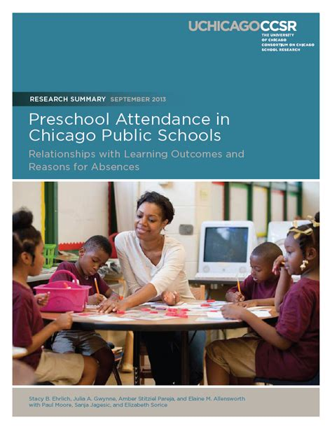 class attendance is to outcomes even in preschool 862 | preschool attendance in chicago public schools