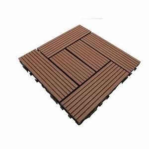 Dalle De Terrasse En Bois : dalle de terrasse bois composite classic 30 x 30 cm mccover ~ Dailycaller-alerts.com Idées de Décoration
