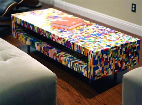 kitchen island with shelves 21 insanely cool diy lego furniture and home decor