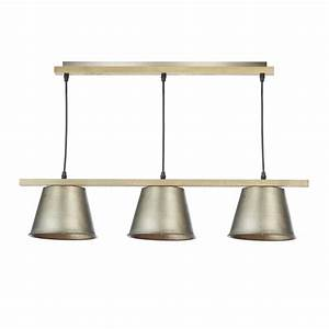 Natural wood effect light ceiling bar pendant great