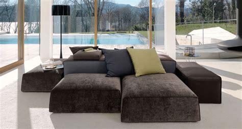 divano componibile boog sfoderabile  tessuto  pelle