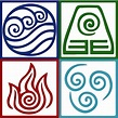 """Four Elements Symbol Avatar"" Posters by Daljo 