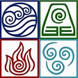 """""""Four Elements Symbol Avatar"""" Posters by Daljo 