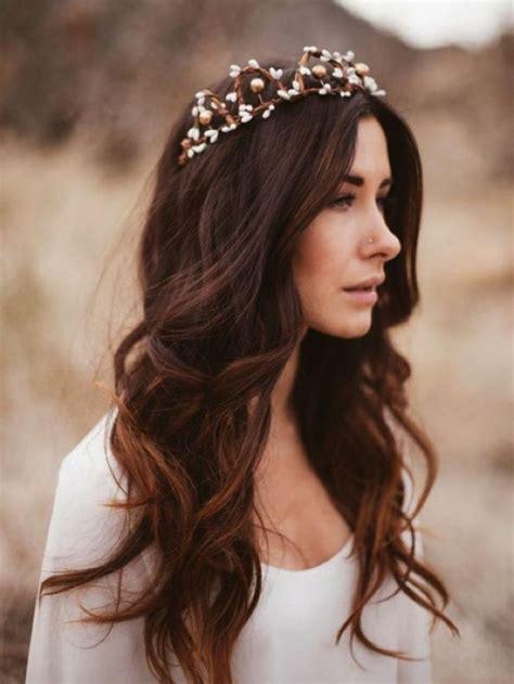 bohemian wedding hairstyles ideas  pinterest
