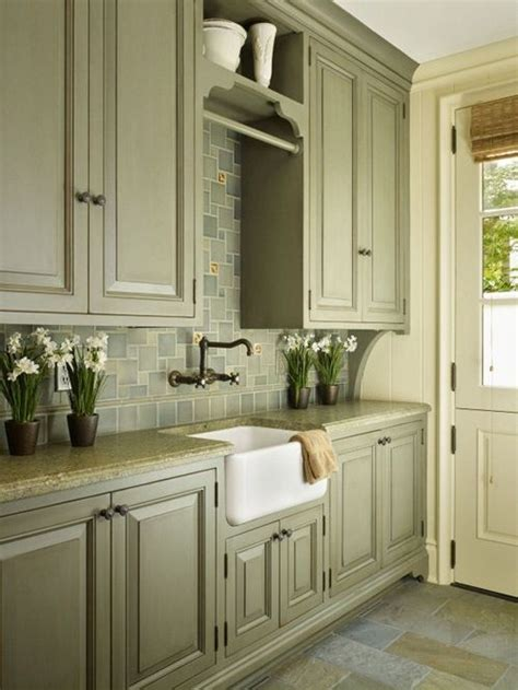 olive green kitchen ideas  pinterest
