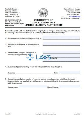 how to form an llp in california form llp 4 cancellation of a limited liability partnership