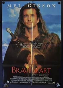All About Movies - Braveheart movie poster One Sheet Mel ...