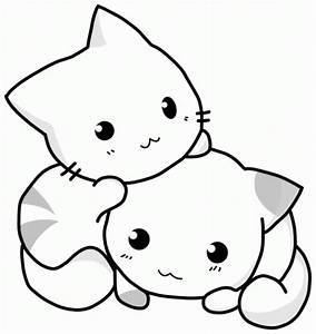 Cute Kitten Coloring Pictures - Colorings.net