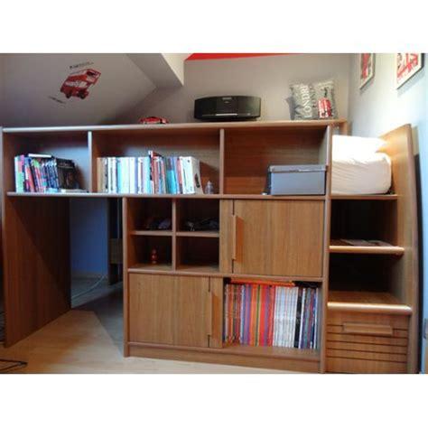 combiné lit bureau conforama lit mezzanine ado combine bureau pas cher with