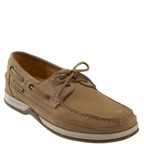 Mephisto Boat Shoes by Mephisto Nautic Boat Shoe In Beige For Taupe