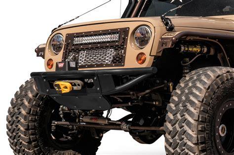custom jeep bumper 2007 2018 jeep jk venom winch front bumper add offroad