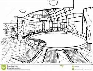 Swimming Pool, Hand Drawing, Inc Stock Illustration ...