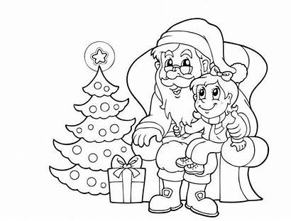 Santa Claus Coloring Pages Christmas Father Printable