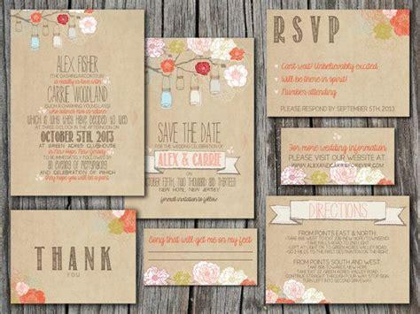 wedding invitation suite set printable custom diy
