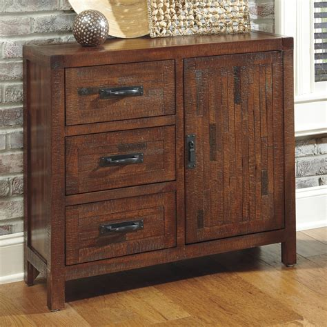 ashley furniture accent cabinets signature design by ashley rustic accents rectangular