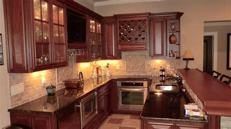 Kitchen Exciting Basement Kitchen Design With Light