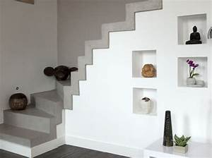 escalier un beton cire tout ce qu39il faut savoir a ce With porte d entrée pvc avec béton ciré mur salle de bain