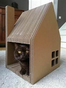Objet En Carton Facile A Faire : 1001 designs captivants de maison de chat en carton ~ Melissatoandfro.com Idées de Décoration