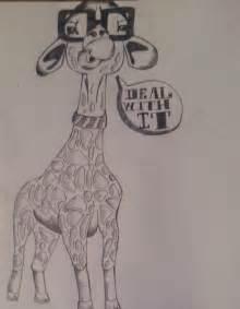 Giraffe Drawing Cool Guy