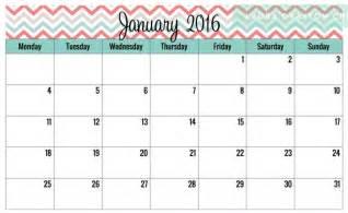 Free Cute Printable Calendar Templates 2016
