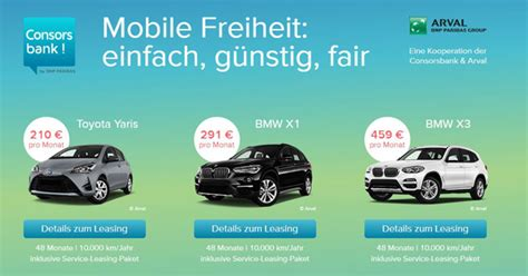 auto ohne anzahlung consorsbank arval auto leasing ohne anzahlung inkl