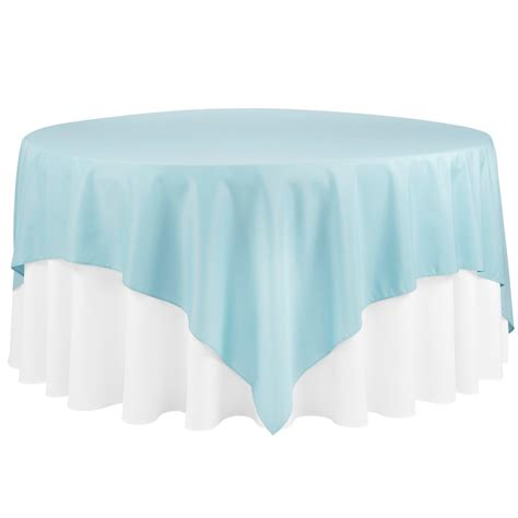 """Economy Polyester Tablecloth 90""""x90"""" Square Baby Blue"""